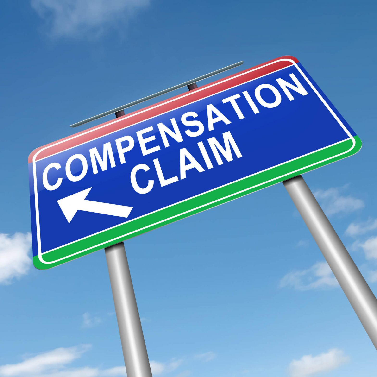 Workers compensation claim sign